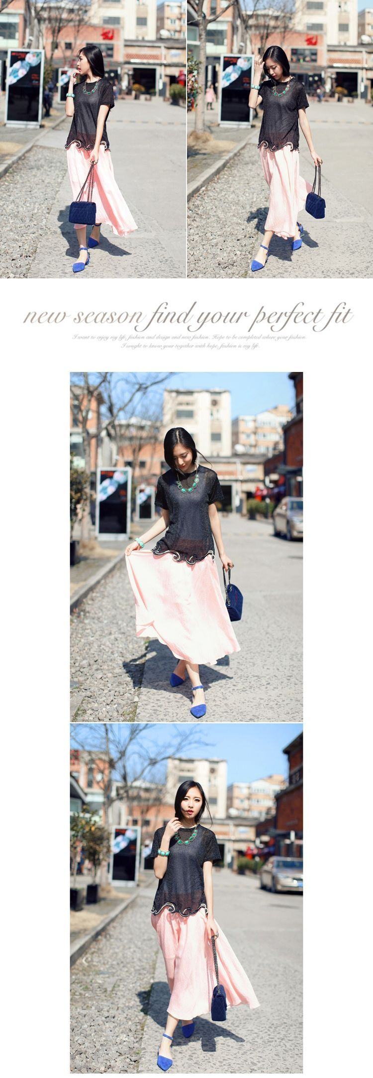 DRESS WANITA - ROK CHIFFON KOREA