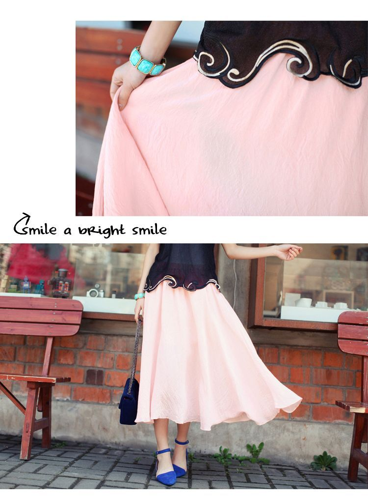 DRESS CANTIK KOREA - ROK CHIFFON WANITA KOREA