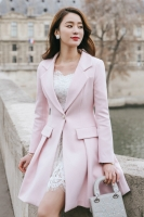 BLAZER WANITA KOREA - Pink Korean Long Coat