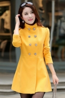 JAKET MUSIM DINGIN - Yellow Woolen Coat