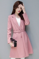 LONG COAT WANITA KOREA - Pink Windbreaker
