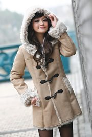 BAJU MUSIM DINGIN - Warm Suede Wool Long Coat