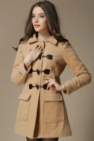 HOODIE LONG COAT KOREA - LightTan Korean Long Coat