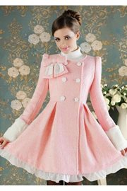 COAT IMPORT KOREA STYLE - Pink Winter  Coat
