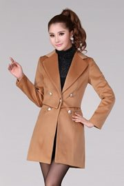 COAT KOREA STYLE - LightTan Wool Long Coat
