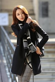 JAKET MUSIM DINGIN - Black Trendy Coat