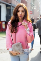 JAKET WANITA KOREA  - Pink Korean Short Coat