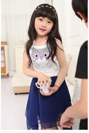 BAJU KOREA ANAK - Blue Girl Dress