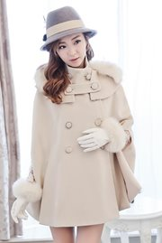 JAKET MUSIM DINGIN - Big Size Fur Cape