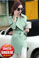 BLAZER WANITA KOREA - Green Long Coat