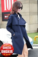 BLAZER WANITA KOREA - Navy Long Coat
