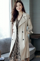 LONG COAT WANITA KOREA - Beige Windbreaker Coat