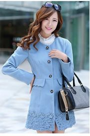 JAKET MUSIM DINGIN - Blue Girly Coat