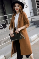 JAKET WOOLEN KOREA - Khaki Worsted Wool COAT