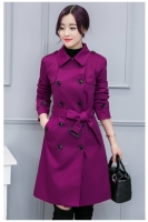 LONG COAT WANITA - Purple Long Blazer