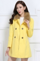 JAKET BULU KOREA - Yellow MODERN FUR COAT