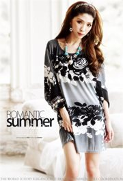 Gray Relaxing Cotton - BLOUSE IMPORT BIG SIZE