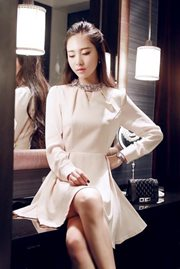 DRESS WANITA KOREA - Salem Beauty Dress