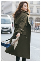 LONG COAT WANITA KOREA - Green Windbreaker Coat
