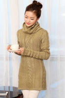 SWEATER MUSIM DINGIN - KHAKI CABLE KNIT SWEATER