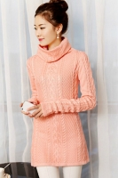 SWEATER MUSIM DINGIN - PINK CABLE KNIT SWEATER
